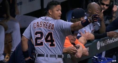 Cabrera unhappy