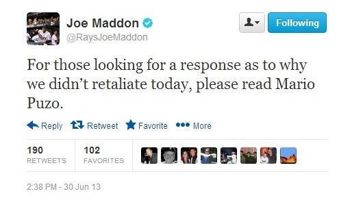 Maddon tweet