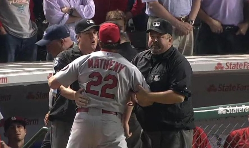 Matheny tossed