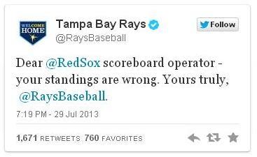 Rays tweet