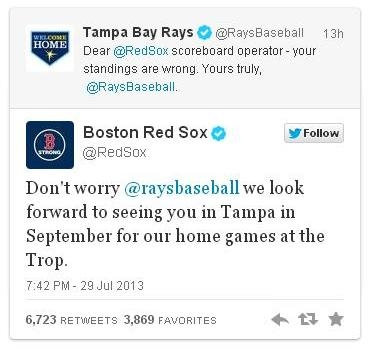 Red Sox tweet