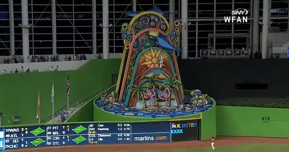 Marlins sculpture