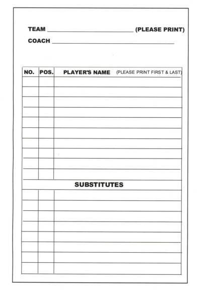baseball lineup rotation template