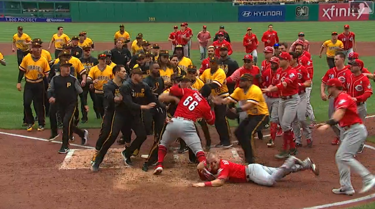 Puig fights