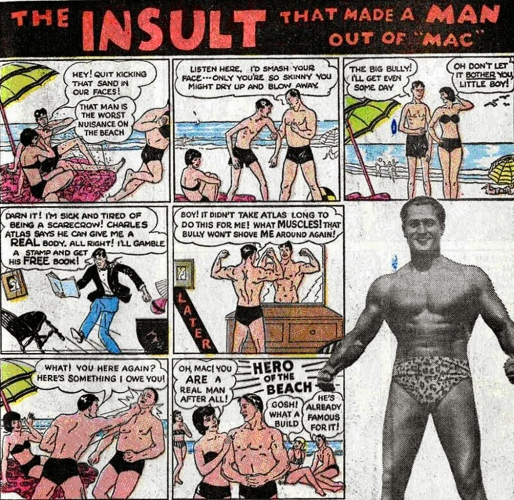 Image result for charles atlas sand in face